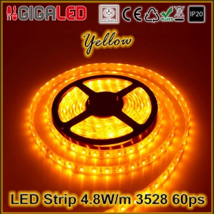 Led Strip 4.8W -SMD3528 60 Leds Yellow IP20
