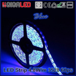 Led Strip 4.8W -SMD3528 60 Leds Blue IP65