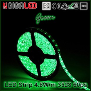 Led Strip 4.8W -SMD3528 60 Leds Green IP65