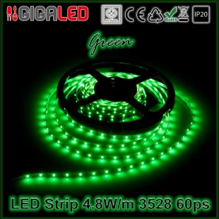 Led Strip 4.8W -SMD3528 60 Leds Green   IP20