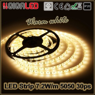 Led Strip 7.2W -SMD5050 30 Leds IP20