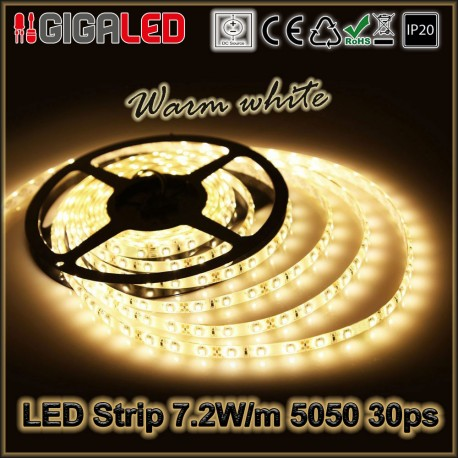 Led Ταινία 7.2W Strip-SMD5050 30 Leds IP20