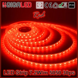 Led Strip 7.2W -SMD5050 30 Leds Red IP20