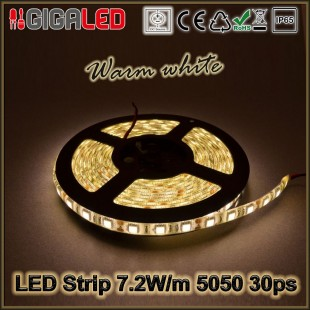 Led Ταινία 7.2W Strip-SMD5050 30 Leds IP65