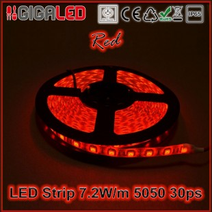Led Strip 7.2W -SMD5050 30 Leds Red IP65