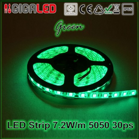 Led Ταινία 7.2W Strip-SMD5050 30 Leds Green IP65