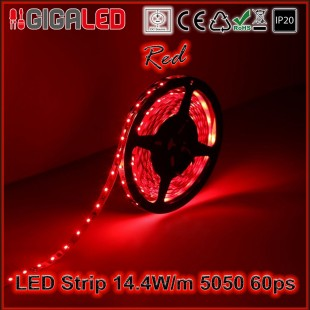 Led Ταινία 14.4W Strip-SMD5050 60 Leds Red IP20