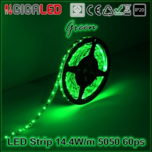 Led Strip 14.4W -SMD5050 60 Leds Green IP20