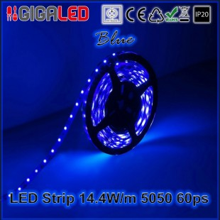 Led Strip 14.4W -SMD5050 60 Leds Blue IP20