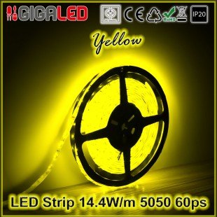 Led Strip 14.4W -SMD5050 60 Leds Yellow IP20