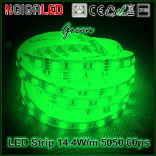 Led Strip 14.4W -SMD5050 60 Leds Green IP65