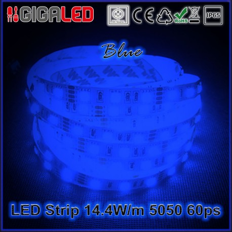 Led Ταινία 14.4W Strip-SMD5050 60 Leds Blue IP65