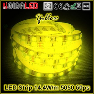 Led Strip 14.4W -SMD5050 60 Leds Yellow IP65