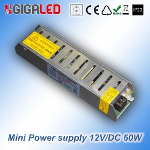 Stabilized Thin Power Supply 12V/DC  60W