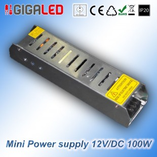 Stabilized Thin Power Supply 12V/DC  100W