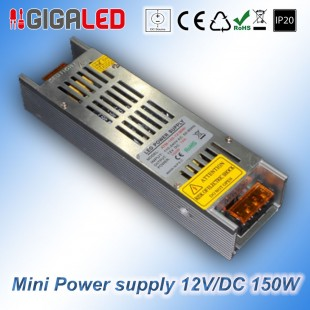 Stabilized Thin Power Supply 12V/DC  150W