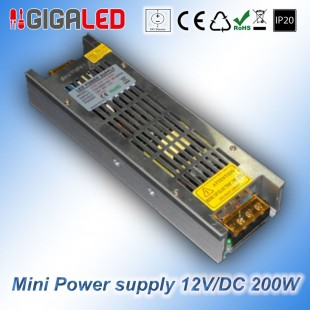Stabilized Thin Power Supply 12V/DC  200W