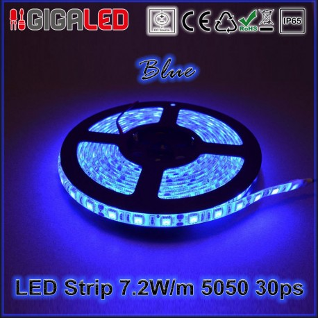 Led Ταινία 7.2W Strip-SMD5050 30 Leds Blue IP65