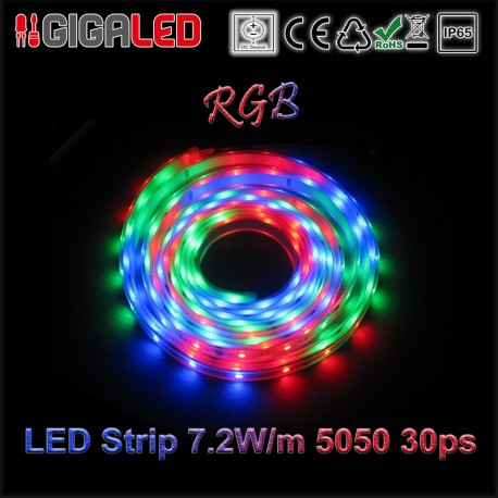 Led Ταινία 7.2W Strip-SMD5050 30 Leds RGB IP65