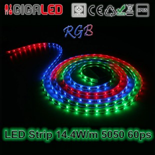 Led Strip 14.4W -SMD5050 60 Leds Red IP65