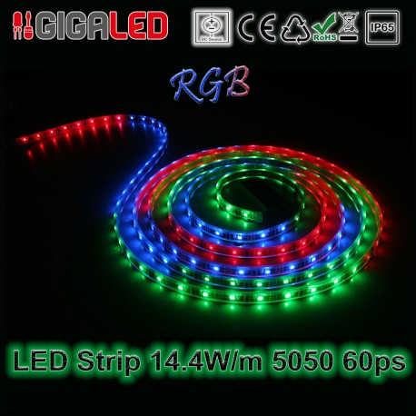 Led Ταινία 14.4W Strip-SMD5050 60 Leds Red IP65