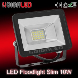 LED Προβολέας Slim 10W SMD Graphite Body