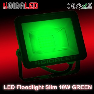 LED Floodlight  Slim 10W SMD Graphite Body Green
