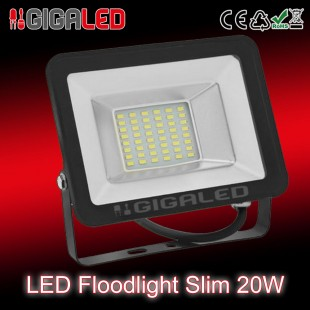 LED Προβολέας Slim 20W SMD Graphite Body