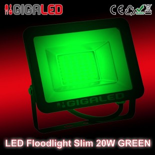 LED Floodlight  Slim 20W SMD Graphite Body Green