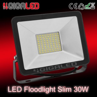LED Προβολέας Slim 30W SMD Graphite Body