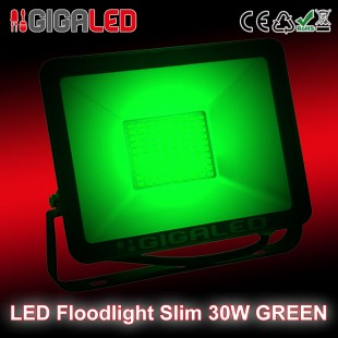 LED Floodlight  Slim 30W SMD Graphite Body Green