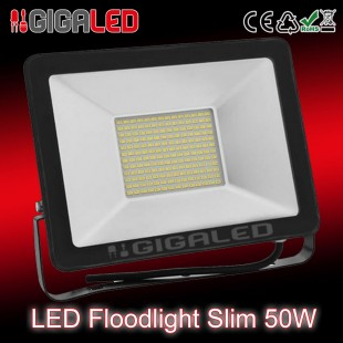LED Προβολέας Slim 50W SMD Graphite Body