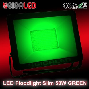 LED Floodlight  Slim 50W SMD Graphite Body Green