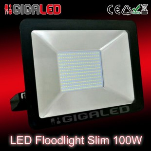 LED Floodlight  Slim 100W SMD Graphite Body