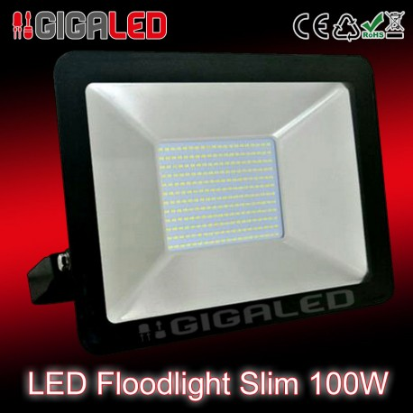 LED Προβολέας Slim 100W SMD Graphite Body