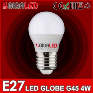 LED Lamp Globe 4W G45 E27 GL