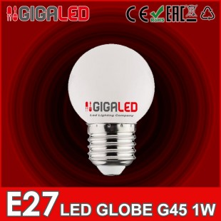 LED Lamp Globe 1W G45 E27 GL