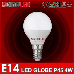 LED Lamp Globe 4W P45 E14 GL