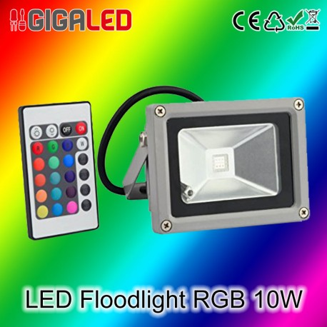 LED Προβολέας RGB 10W