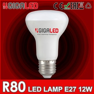 LED Lamp 12W E27/R80 GL