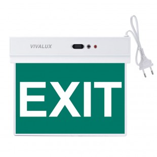 LED Emergency Lighting fixture Salve EXIT 1,8W Vivalux