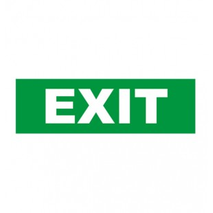 Sticker For EXIT Emergency  Lighting