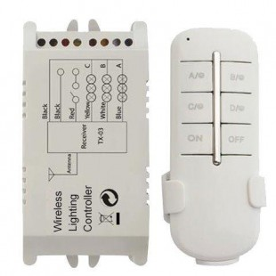 Wireless Lighting Remote Control ON / OFF 230V with 3 lighting channels-controller