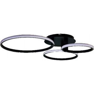 LED Ceiling Wall SEVILLA Black 64W Dimmable 3 Color