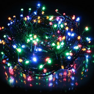 100 Colorful LED Bulbs with Programs, Series, Current 8m