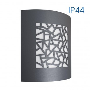 Wall / Ceiling LUXOR/SQ 1XE27 GRAY IP44 VIVALUX