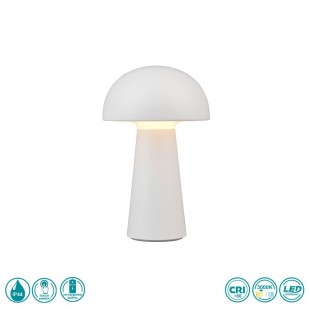 LED Rechargeable Table Lamp Lennon IP44 White