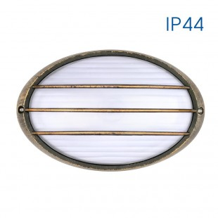 Wall / Ceiling PETRA-2 IP44 (Antique Brass) with stripes VIVALUX