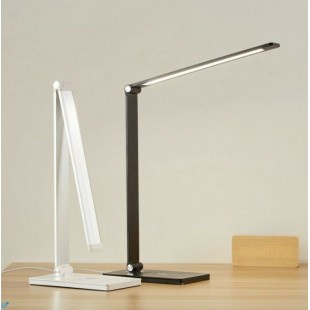 LED Desktop Light White 7Watt Dimmable 3 Steps with Touch Switch and Wireless Mobile Charging