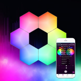 LED Smart RGB Bluetouth Touch Wall Lamp (Set of 6 Luminaires) with Music 1.2W